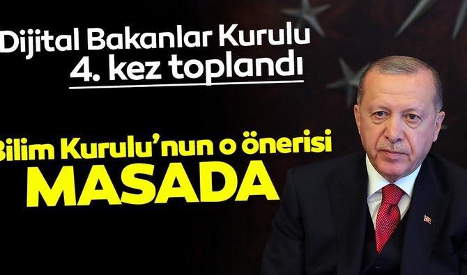 Kabine Toplantısı video konferansla Başkan Erdoğan başkanlığında başladı