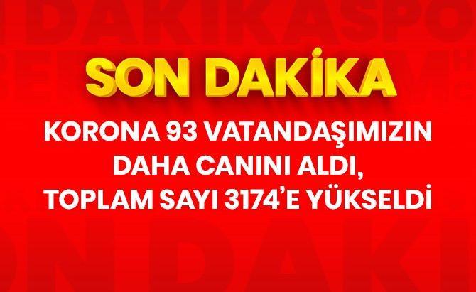 Türkiye'de 30 Nisan'da koronavirüsten ölenlerin sayısı 93 artarak 3 bin 174'e yükseldi