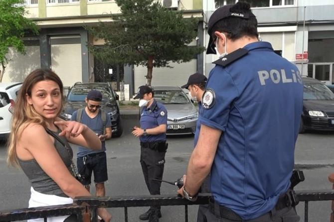 Polisin ceza kestiği kadından gazeteciye tehdit!!!