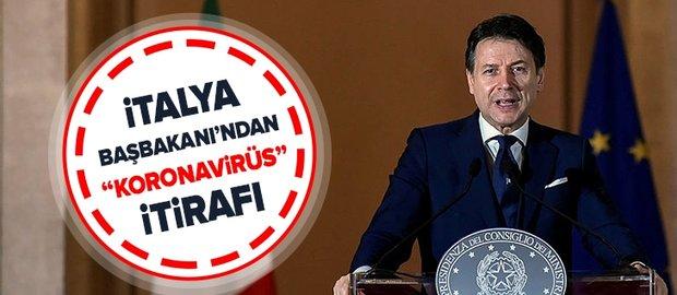 """İtalya Başbakanı Giuseppe Conte'den """"koronavirüs"""" itirafı."""