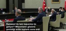 Beştepe'de merakla beklenen Kabine toplantısı sona erdi