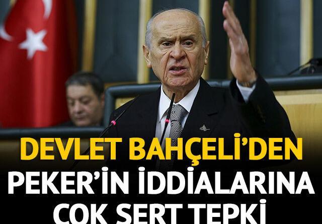 Bahçeli'den Sedat Peker'in iddialarına sert tepki