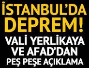 İstanbul'da deprem! AFAD: Merkez üssü Kartal, şiddeti 3,9